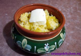Рецепт постной тыквенной пшенной каши на воде