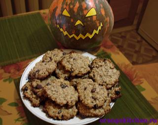 Вегетарианские рецепты на Хэллоуин: американское овсяное печенье