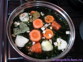 Бульон из овощей для гречневого супа