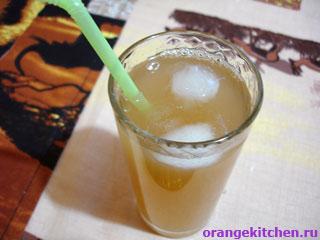 Постный рецепт напитка с грейпфрутом и имбирем