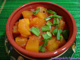 Вегетарианские рецепты с фото: карри из тыквы