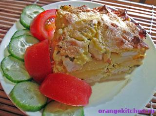Вегетарианский рецепт картофельной запеканки с адыгейским сыром