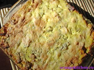Готовая картофельная запеканка с адыгейским сыром