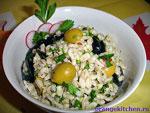 вегетарианский рецепт салата с перловкой