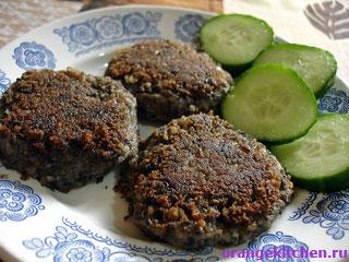Вегетарианские рецепты с фото: Постные котлеты из фасоли с грибами