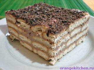 Вегетарианские рецепты с фото: Ленивый чизкейк из печенья