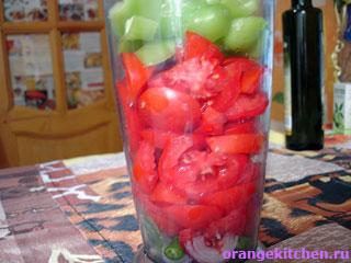 Овощи для острого томатного соуса