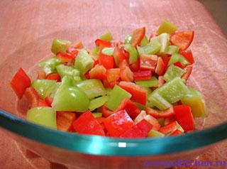 Овощи для салата с мандаринами