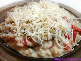 Вегетарианские рецепты с фото: Ризотто с грибами