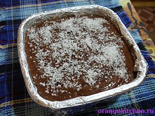 Вегетарианское шоколадное суфле в форме