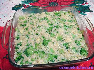 Вегетарианская запеканка с брокколи в форме