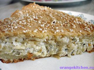 Вегетарианские рецепты с фото: сырный пирог с травами