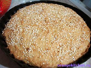 Готовый вегетарианский сырный пирог без яиц