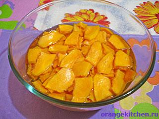 Кусочки тыквы для цукатов
