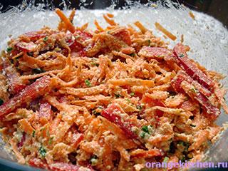 Вегетарианский морковный салат с ореховым йогуртом: Фото 4