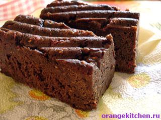 Шоколадный кекс без яиц с малиной: Фото 8