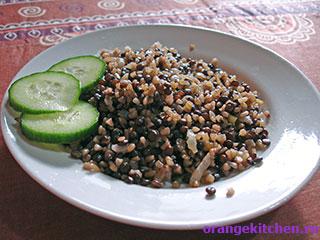 Вегетарианский рецепт - Маджадра - булгур с чечевицей: Фото 6