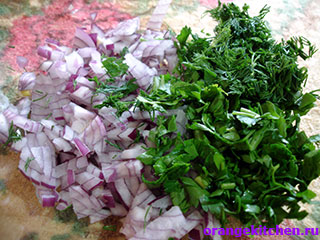 Вегетарианский салат из цветной капусты с рисом: Фото 2