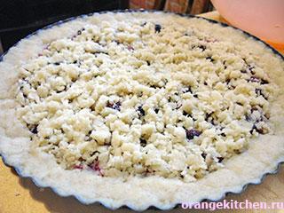 Постный (веганский) черничный пирог: Фото 6