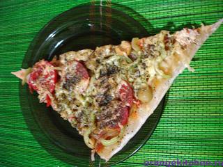 Вегетарианская овощная пицца