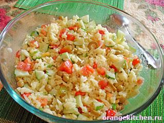 Вегетарианский салат с рисом: Фото 5