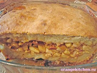 Постный пирог без яиц с яблоками и корицей: Фото 8