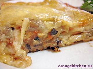 Вегетарианский рецепт лазаньи с баклажаном