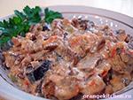 Вегетарианские овощные блюда: грибной гуляш