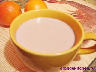 Вегетарианский рецепт какао с апельсиновой шкуркой