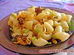 Вегетарианские блюда из круп: макароны с грибами