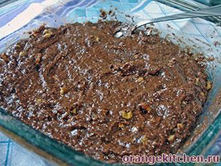 Постный шоколадный кекс с кабачками: Фото 3