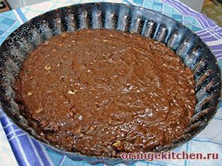 Постный шоколадный кекс с кабачками: Фото 4