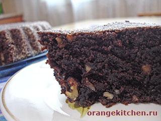 Постный шоколадный кекс: Фото 6