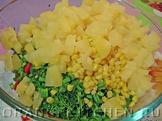 с Постный кукурузой салат
