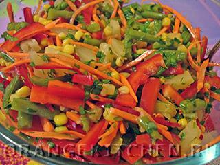 Вегетарианский салат с кукурузой: Фото 7
