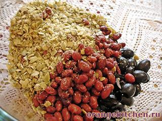 Вегетарианский салат с фасолью и маслинами: Фото 4