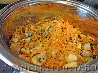 Блюдо из гречки с шампиньонами и шпинатом: Фото 1