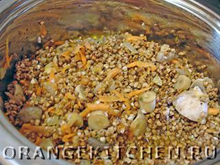 Блюдо из гречки с шампиньонами и шпинатом: Фото 2