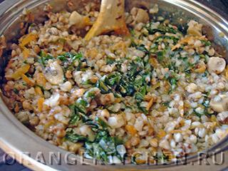Блюдо из гречки с шампиньонами и шпинатом: Фото 4