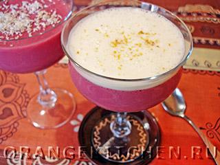 Вегетарианские рецепты с фото: малиновый мусс с манкой