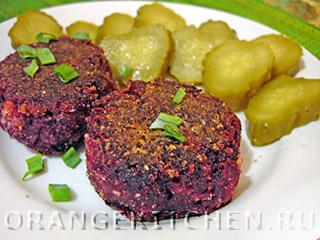 Вегетарианские рецепты с фото: свекольные котлеты без манки и без яиц