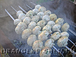 Вегетарианский шашлык из шампиньонов: Фото 5