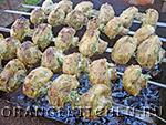 Вегетарианские овощные блюда: шашлык из шампиньонов