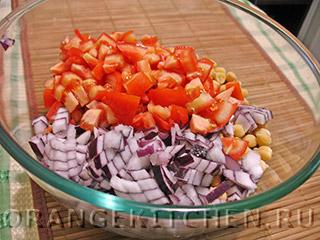 Вегетарианский салат с нутом: Фото 3