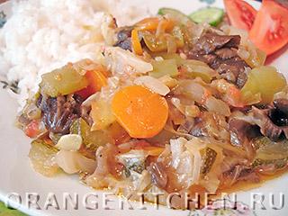Вегетарианские рецепты с фото: овощное рагу с грибами