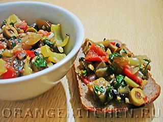 Вегетарианские рецепты с фото: капоната из баклажанов