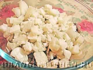 Вегетарианский картофельный салат с грибами: Фото 6