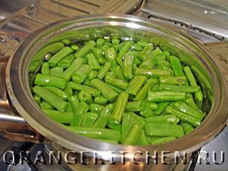 Постный салат из стручковой фасоли: Фото 1