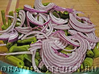 Постный салат из стручковой фасоли: Фото 3