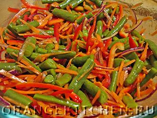 Постный салат из стручковой фасоли: Фото 7